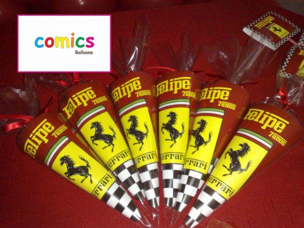 Cone Personalizado Tema Ferrari Comics Fest Ideias